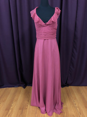 Jim Hjelm Size 12 Pink Ruffle Formal Dress