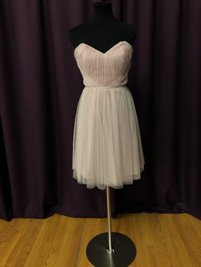 Jim Hjelm Size 12 Pink Strapless Tulle Formal Dress