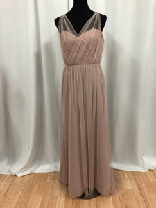 Jim Hjelm Size 12 Pink Tulle Rushing Formal Dress