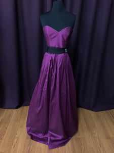 Jim Hjelm Size 12 Purple Sash Rhinestone Formal Dress