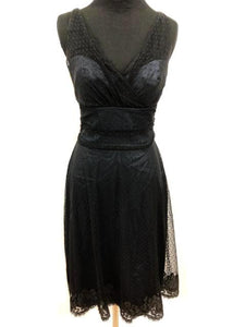 Jim Hjelm Size 6 Black Short Formal Dress