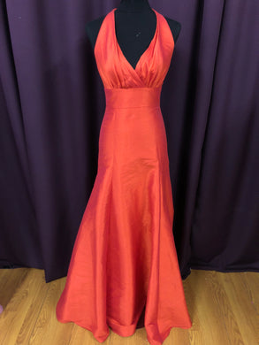 Jim Hjelm Size 6 Orange Formal Dress
