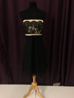 Jordan Size 12 Black Lace Formal Dress