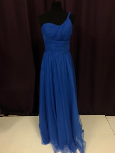 Jordan Size 12 Blue Long Tulle Formal Dress