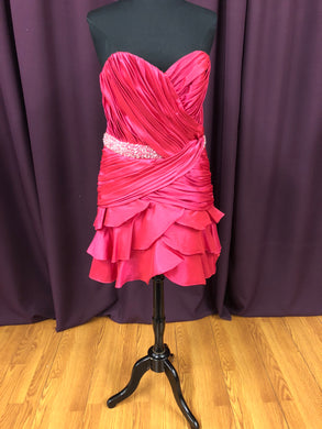 Jordan Size 12 Pink Bead Sequin Formal Dress