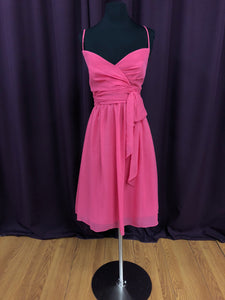 Jordan Size 12 Pink Bow Rushing Short Formal Dress