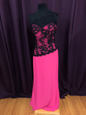 Jordan Size 12 Pink Lace Formal Dress