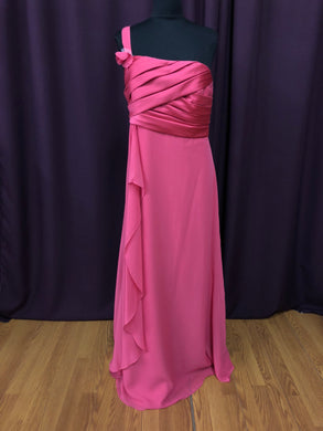 Jordan Size 12 Pink One Shoulder Flower Formal Dress