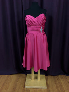 Jordan Size 12 Pink Rhinestone Rushing Formal Dress