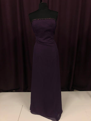 Jordan Size 12 Purple Bead Formal Dress