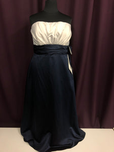 Jordan Size 20 Navy Blue Formal Dress