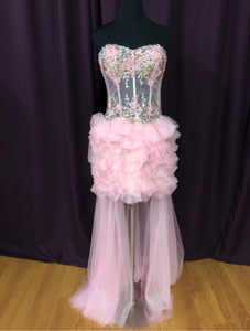 Jovani Size 6 Pink Rhinestone Sequin Formal Dress