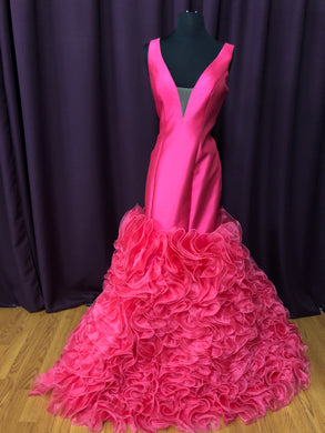 Jovani Size 6 Pink Ruffle Formal Dress