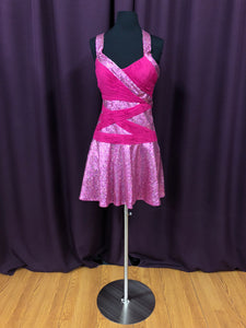 Jovani Size 6 Pink Sequin Formal Dress