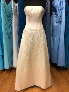 Justina McCaffrey Size 10 Ivory Flower Sequin Wedding Dress