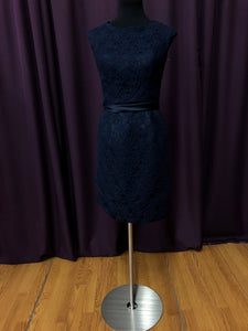 Kennedy Blue Size 10 Blue Lace Formal Dress