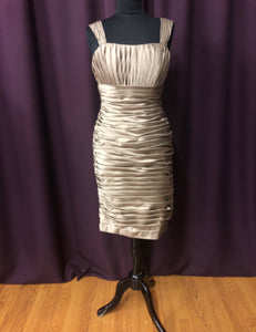 Kennedy Blue Size 10 Brown Rushing  Straps  Short Formal Dress