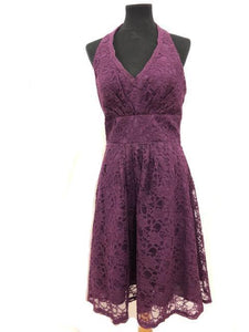 Kennedy Blue Size 10 Purple Lace Formal Dress
