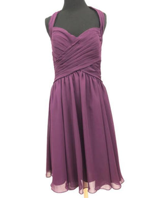Kennedy Blue Size 12 Purple Halter Formal Dress