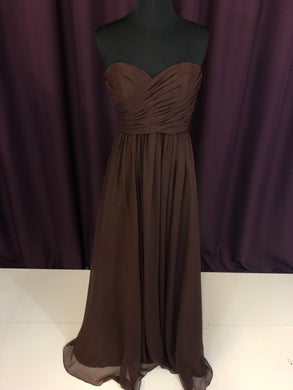 Kennedy Blue Size 2 Brown Rushing  Strapless NEW Formal Dress