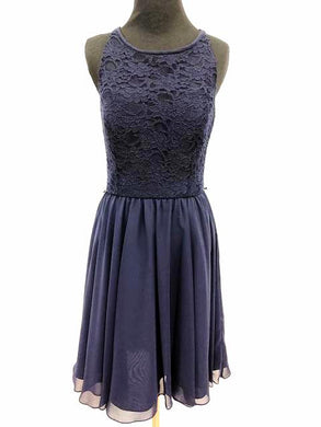 Kennedy Blue Size 6 Blue Short  Lace Formal Dress