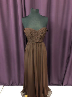 Kennedy Blue Size 8 Brown Long Rushing Strapless NEW Formal Dress
