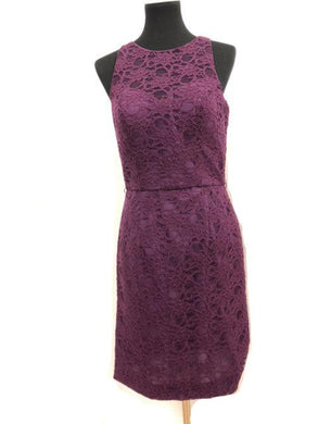 Kennedy Blue Size 8 Purple Lace Sash Formal Dress