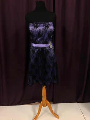 Liza Fields Size 24 Purple Lace Bead Rhinestone Formal Dress