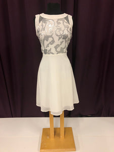 Marisota Size 12 White Sequin Formal Dress