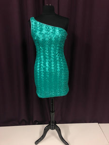 Milano Formals Size 6 Teal Sequin NEW Formal Dress