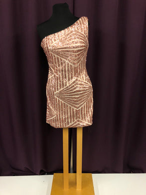 Milano Formals Size 8 Blush Pink Sequin Champagne NEW Formal Dress