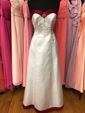 Moonlight Size 12 White Bead Wedding Dress