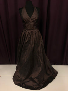 Mori Lee Size 14 Brown Halter Formal Dress