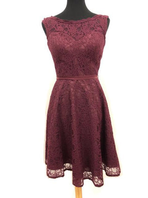 Mori Lee Size 8 Red Lace Short Formal Dress