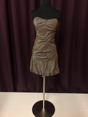 Nicole Miller Size 4 Brown Strapless Formal Dress