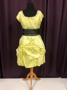Night Moves Size 18 Yellow Short  Bead Ruffle Formal Dress