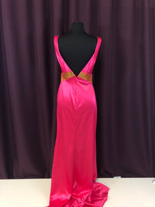 Night Moves Size 4 Pink Bead Formal Dress
