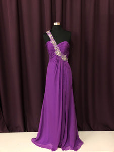 Night Moves Size 6 Purple Gemstone Formal Dress