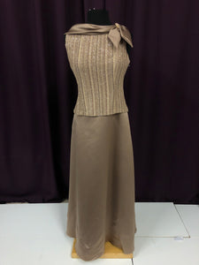 Patra Size 10 Brown Glitter Broach Formal Dress