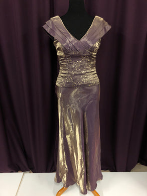 Patra Size 8 Brown Sequin Formal Dress