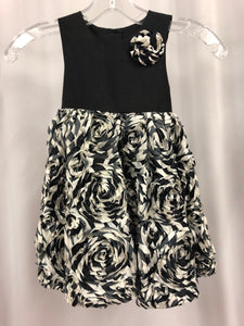 Pippa & Julie Size 4T Black Flower Rosette Sash Flower Girl Dress