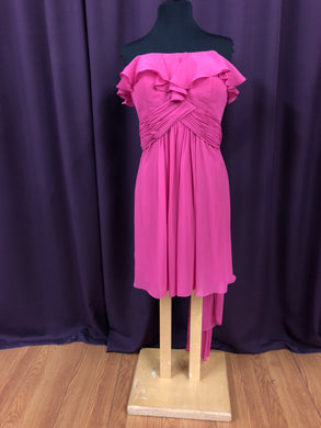 Pretty Maids Size 12 Pink Sash Short Formal Dress