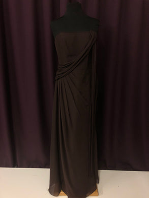 Randa Size 12 Brown Long One Shoulder Formal Dress