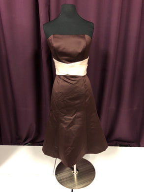 SB Boutique Size 6 Brown Formal Dress
