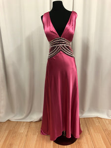 Sean Collection Size 12 Pink Long Rhinestone Formal Dress