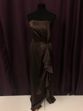 Social Size 12 Brown Ruffle Formal Dress