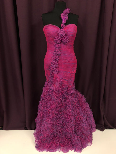 fcfb3a1d64794 Special Occasion Gowns Size 10 Pink Flower Formal Dress – Bride To ...