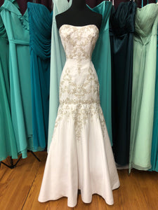 Symphony Bridal Size 4 White Bead Embroidery Sequin Wedding Dress