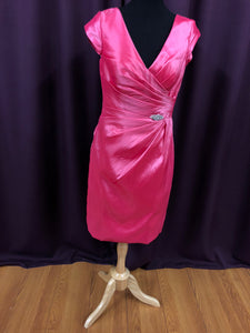 Symphony of Venus Size 12 Pink Broach Short Formal Dress