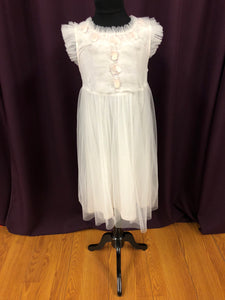 Tutu Du Monde Size 8 Ivory Sequin Bead Tulle Flower Girl Dress